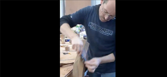 our process of carving bespoke handrails